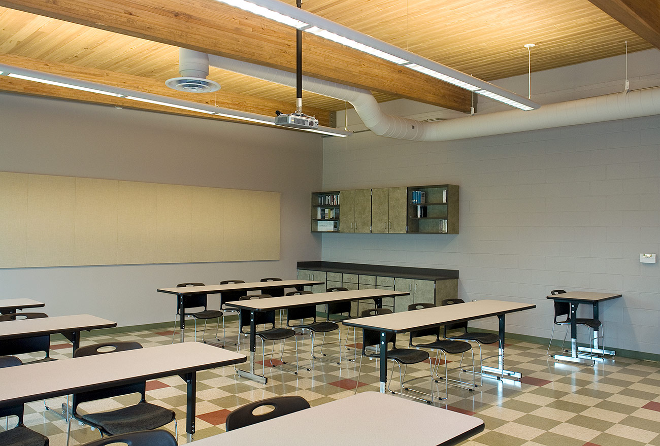 A large classroom in the BCC Applied Plant Science building