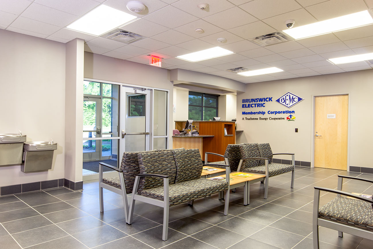Whiteville BEMC district office foyer and waiting room