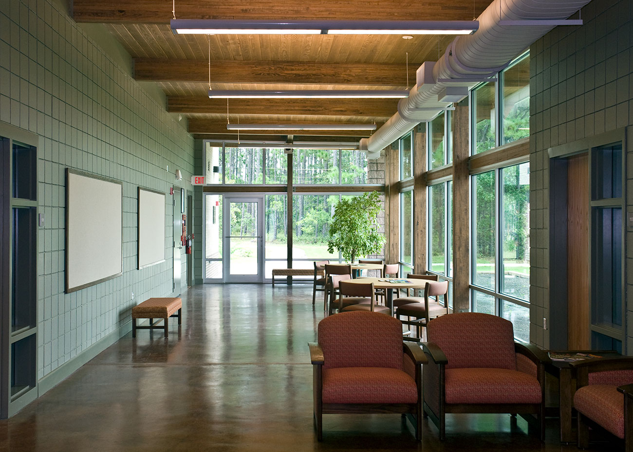 A window-lined interior room at the BCC Applied Plant Science building