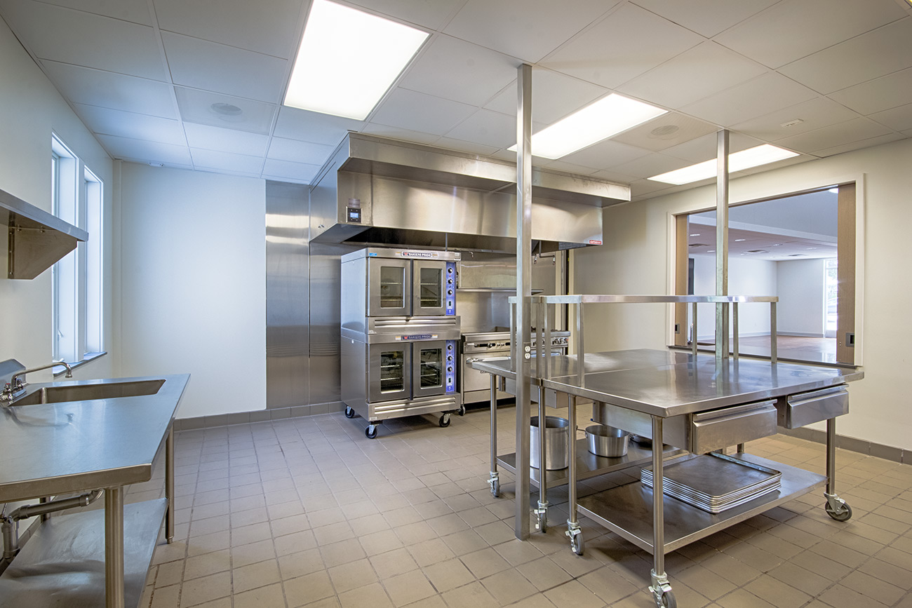 A large and modern kitchen at Saint Andrew's On-the-Sound Episcopal Church