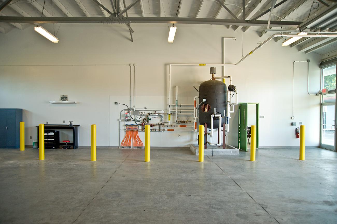 Wilmington street sweeper facility maintenance area